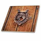 3dRose Danita Delimont - Architecture - Spain, Balearic Islands, Mallorca, door knockers. - 4 Inch Ceramic Tile (ct_277912_1)