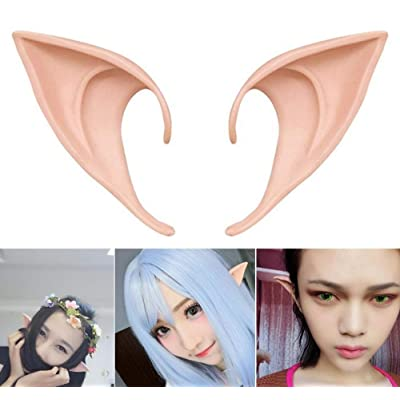 COOLJOY 1 Pair Cosplay Fairy Pixie Elf Ears Accessories Halloween Party Anime Party Costume (Light Complexion): Toys & Games