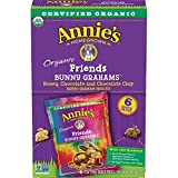 Annie's Friends Bunny Grahams, Honey/Chocolate/Chocolate Chip, Graham Snacks, 6 Snack Packs (Pack of 6)
