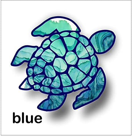 Patterned Turtle Car Bumper Sticker Decal /'/'SIZES/'/'