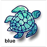 vinyl junkie graphics Sea Turtle Decal/Sticker (Blue)