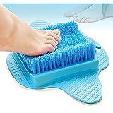 Rutschfeste Dusch Fußbürste Waschhilfe, Goldbeing Fußbürste mit Saugnapf - Fuß Reinigungs - Massage Bürste - Verbessert die Fußzirkulation und reduziert Fußschmerzen