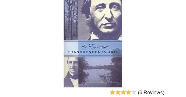 essential transcendentalists geldard richard g