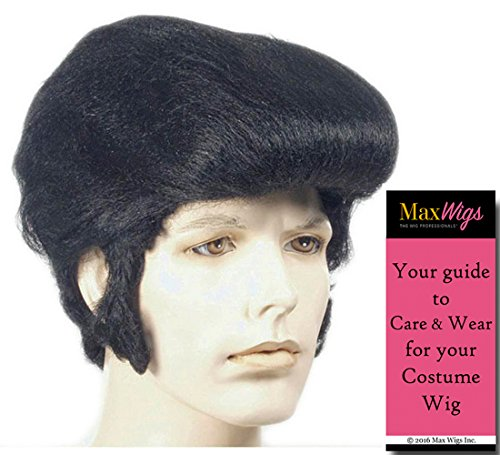 Better Special Bargain Elvis Color Black - Lacey Wigs Classic 60s King Rock Roll Wig Flying Bundle With MaxWigs Costume Wig Care Guide