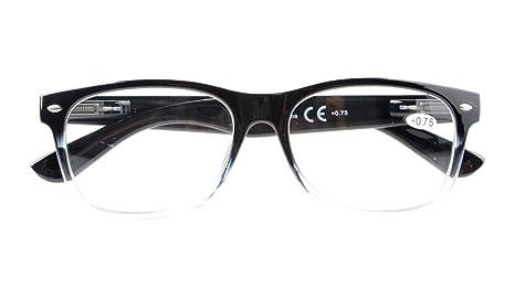 Eyekepper Occhiali da lettura uomo donna Retro cardine a molla Tortoiseshell-Clear +2.0 QvaGXKQ
