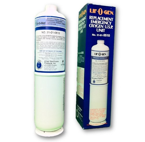 Lif-O-Gen Disposable Oxygen Cylinder - 15 Minute Replacement Tank