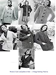 Women's Coats and Jackets to Knit - A Collection of Vintage Knitting Patterns featuring Coats and Jackets for Woman in Size 10 to 20