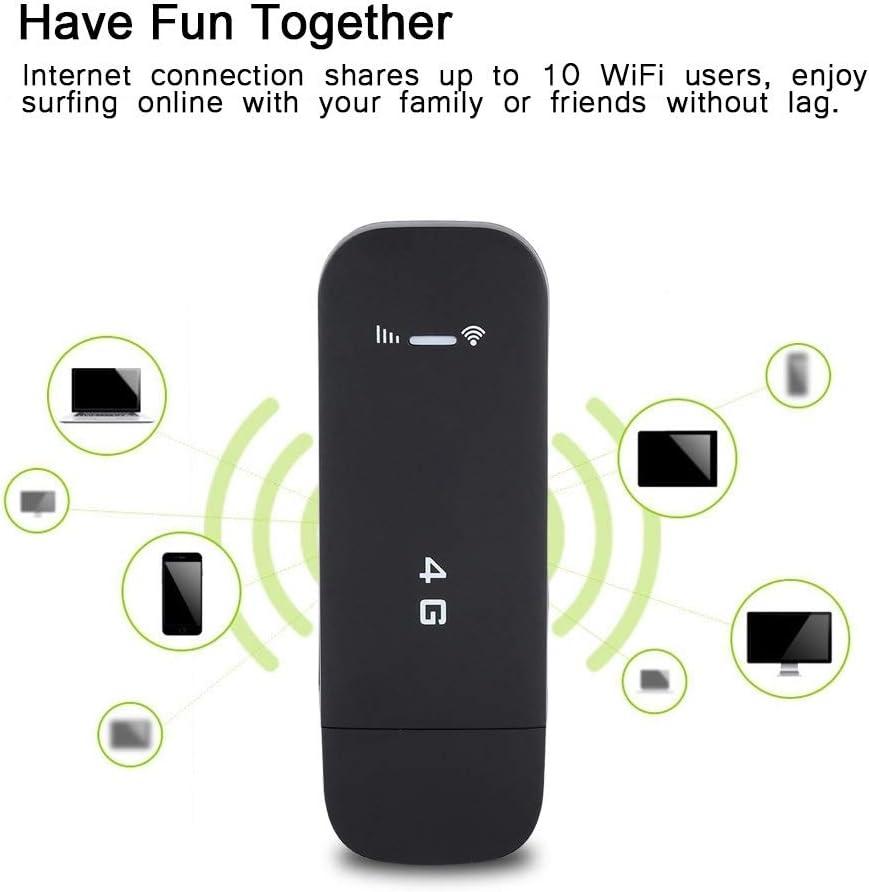 KSTE Router con 4G, Hotspot Router 4G, 4G LTE USB Router WiFi portátil de Bolsillo Hotspot móvil Inteligente Router de Red inalámbrica (con WiFi)