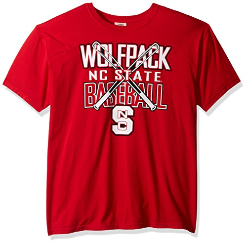 NCAA North Carolina State Wolfpack Baseball Bats Short Sleeve Comfort Color T-Shirt, - Wolf Bat