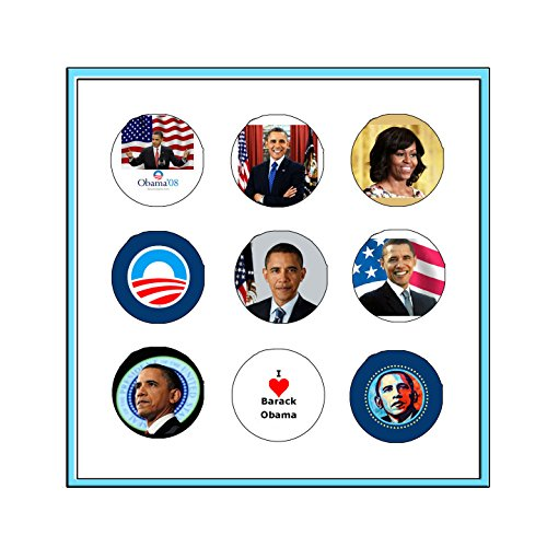 SET OF 7 BARACK OBAMA PRESIDENTIAL BUTTON PINS ()