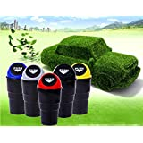 Easyinsmile Car Trash Bin Mini Rubbish Bin Can Carbage Dust Case Storage Holder (Black)