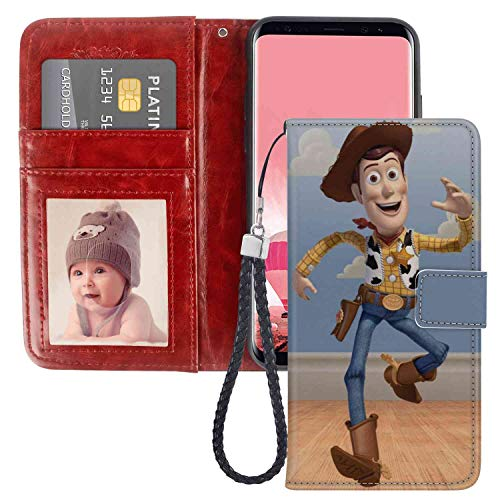 Wallet Case Compatible Samsung Galaxy S8 Plus [6.2 Version] Film Kids Toy Story 1