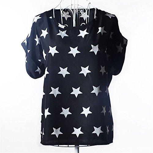 Harajuku Lovers Leopard - Batwing Women Blouses Shirt Tops Heart Animal Stripe Leopard Print Pattern