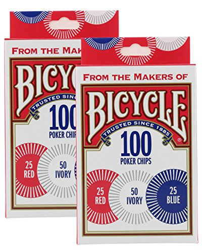 (Bicycle Poker Chips - 100 count with 3 colors (2 Pack))