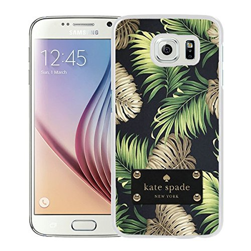 Luxurious And Nice Custom Designed Kate Spade Cover Case For Samsung Galaxy S6 White Phone Case 198