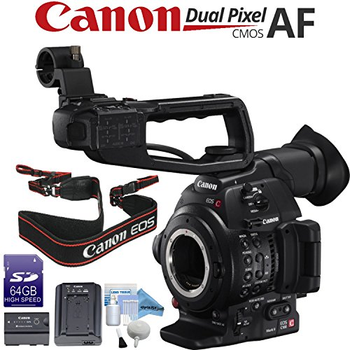 Canon EOS C100 Mark II Cinema EOS Camera with Dual Pixel CMOS AF (Body Only) (International Model)