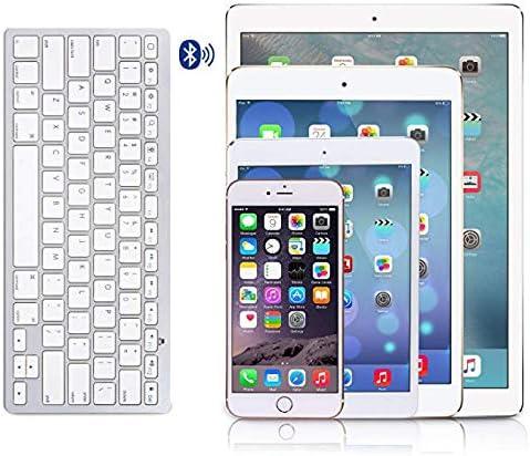 WXGZS Clavier, Souris Combo Clavier Bluetooth avec Fonction Multimédia Connexion sans Fil pour Tablette Android/Windows Ordinateur PC