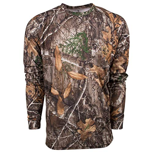 King's Camo Hunter Series Long Sleeve Shirt, Realtree Edge, X-Large ()
