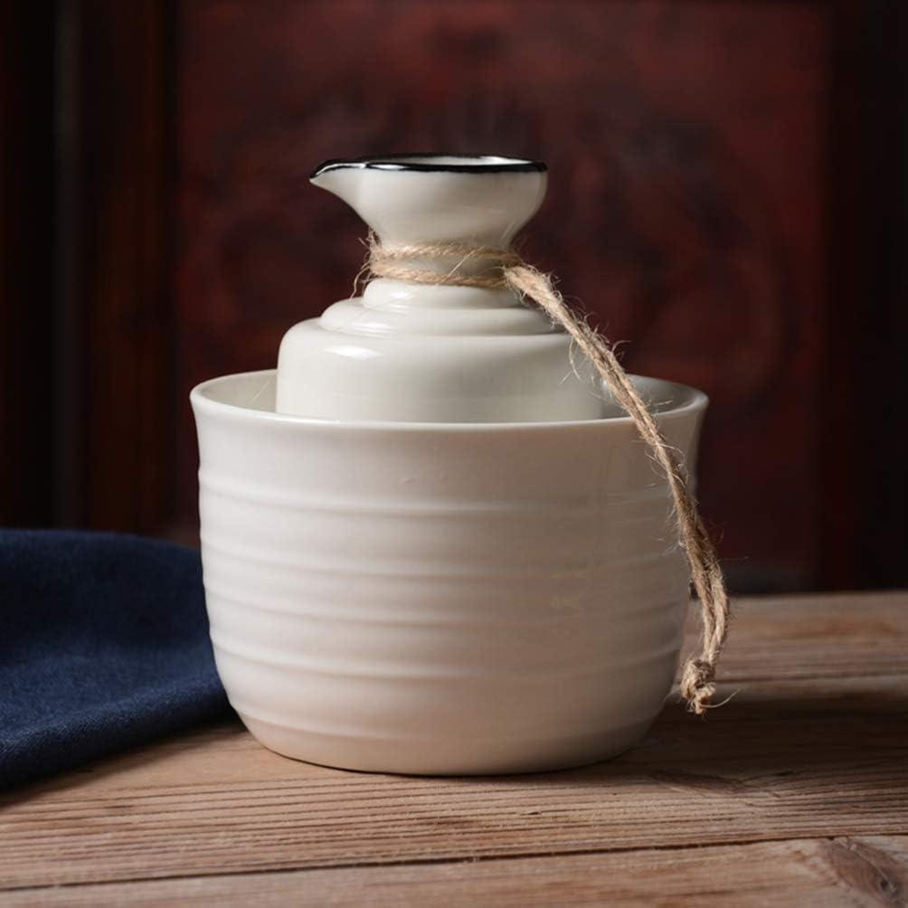 Amosfun Ceramic Japanese Sake Set Sake Bottle and Sake Cups