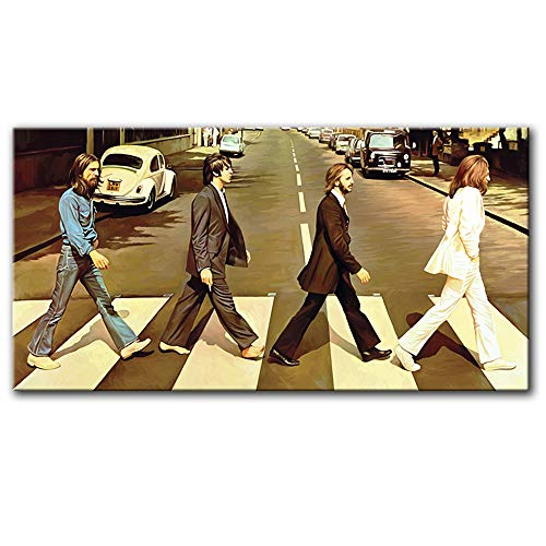 The Beatles Abbey Road Original Artwork Wall Decor Artist Signed Canvas Art Print # 5 (Large 36