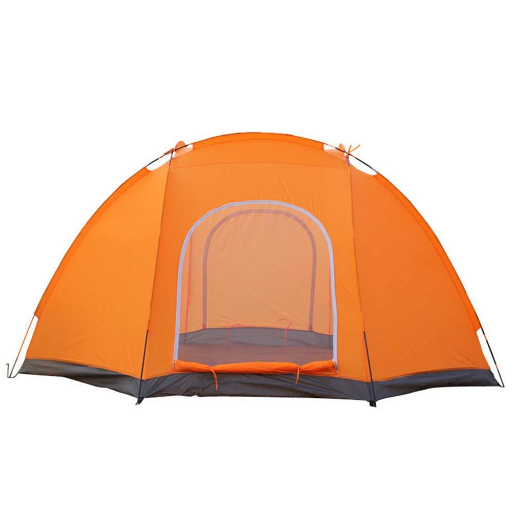 Wurfzelte,Outdoor Camping Zelt, Reise wasserdicht und kälteBesteändig Zelt & 4 Personen Kuppelzelt (300  300  170cm) (Orange 2)