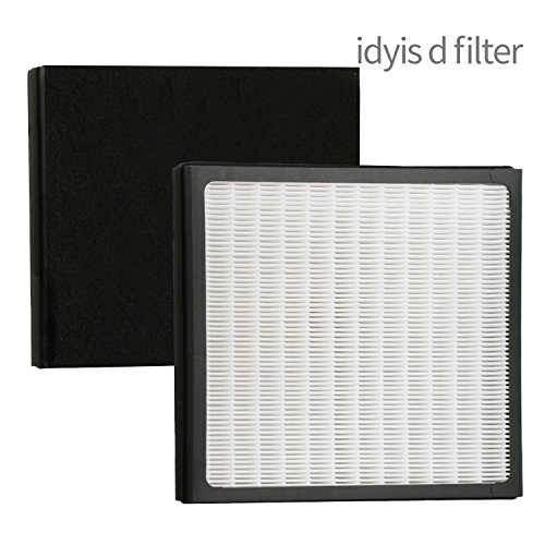 Replacement Idylis D Air Purifier Filters for Idylis Air Purifiers Idylis AC-2118, AC-2123, IAP-10-280, 1AP10280, Part# IAF-H-100D, Includes 1 HEPA & 1 Carbon Filters