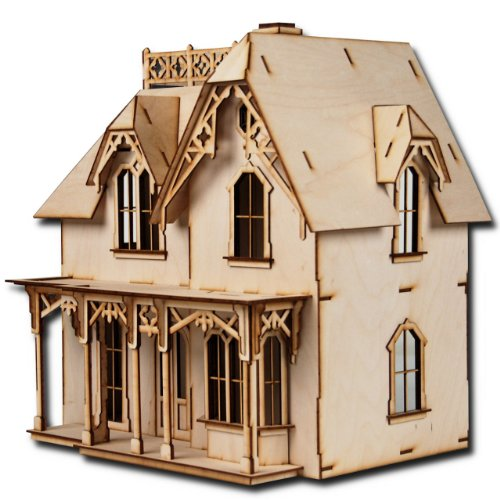 - Laser Cut Half Scale Chantilly Dollhouse Kit