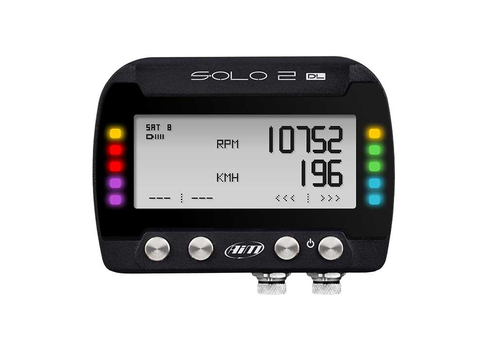 AiM Sportline SOLO2 DL GPS Lap Timer and Dash Logger with RPM Connection Cable (X47 Series)