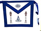 D3700 Apron Masonic Past Master with Columns No Square