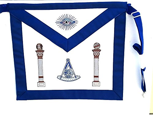 D3700 Apron Masonic Past Master with Columns No Square by DEAN & ASSOCIATES