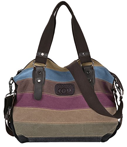 Coofit Stripe Leisure Canvas Handbags product image