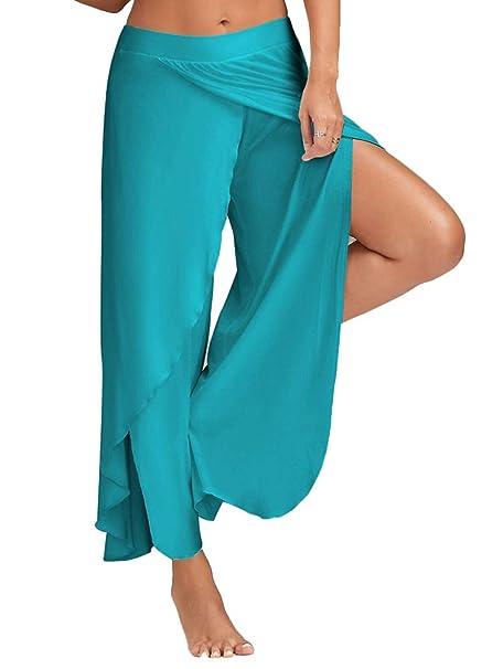 Mujer Pantalones Yoga Talla Grande Anchos Pantalones Anchos ...