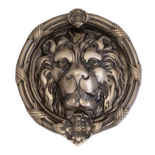 Brass Accents A07-K5100-620 Leo Lion Door Knocker, 8 3/8