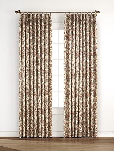 Stylemaster Home Products Monique Pinch Pleat Pair, 48 X 84 Panel, Coral