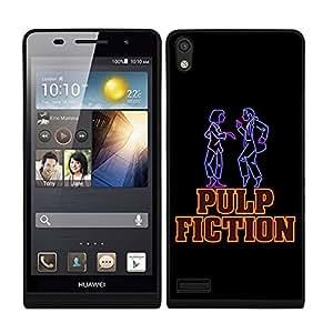 Funda carcasa TPU (Gel) para Huawei P6 diseño fiction fondo negro borde negro