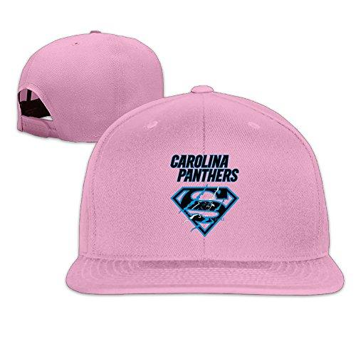 LINNA Custom Unisex Super Carolina Scratch Logo Snapback Baseball Caps Pink