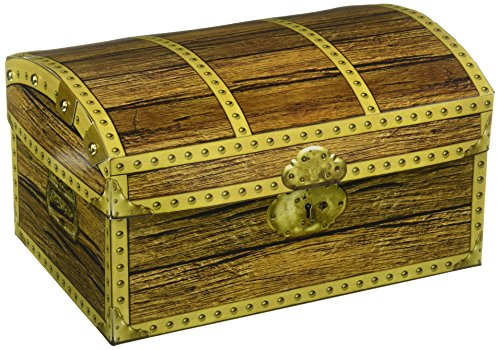 Beistle 50354 Treasure Chest Box, 8-Inch by (Pirate Treasure Chest)