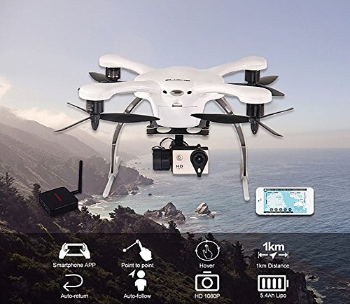 Ghost-L(flight) Android Version 4-axis Smart Aerocraft Rc Aircraft 1080p Camera, Camera Gimbal-white