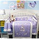 SOHO Lavender Wolly Sheeps Crib Nursery Bedding Set 14 pcs