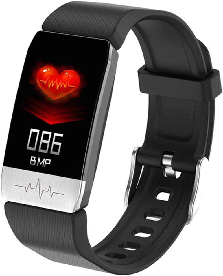 H&J GPS SmartWatch, ECG Aptitud rastreadores con la medición de la Temperatura Corporal y medirse la presión Arterial, medidor de Pulso Incorporado G Sensor y,Negro