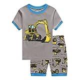 Cczmfeas Boys Short Pajamas Set Children Cartoon PJs Kids Long Sleeves Sleepwear 2 Piece