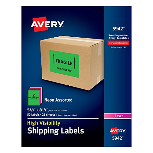 Avery High Visibility Shipping Printers Assorted product image