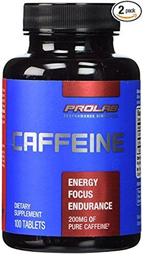 Prolab Caffeine- Maximum Potency 200 mg 100 Tablets (Pack of (Maximum 100 Tablets)
