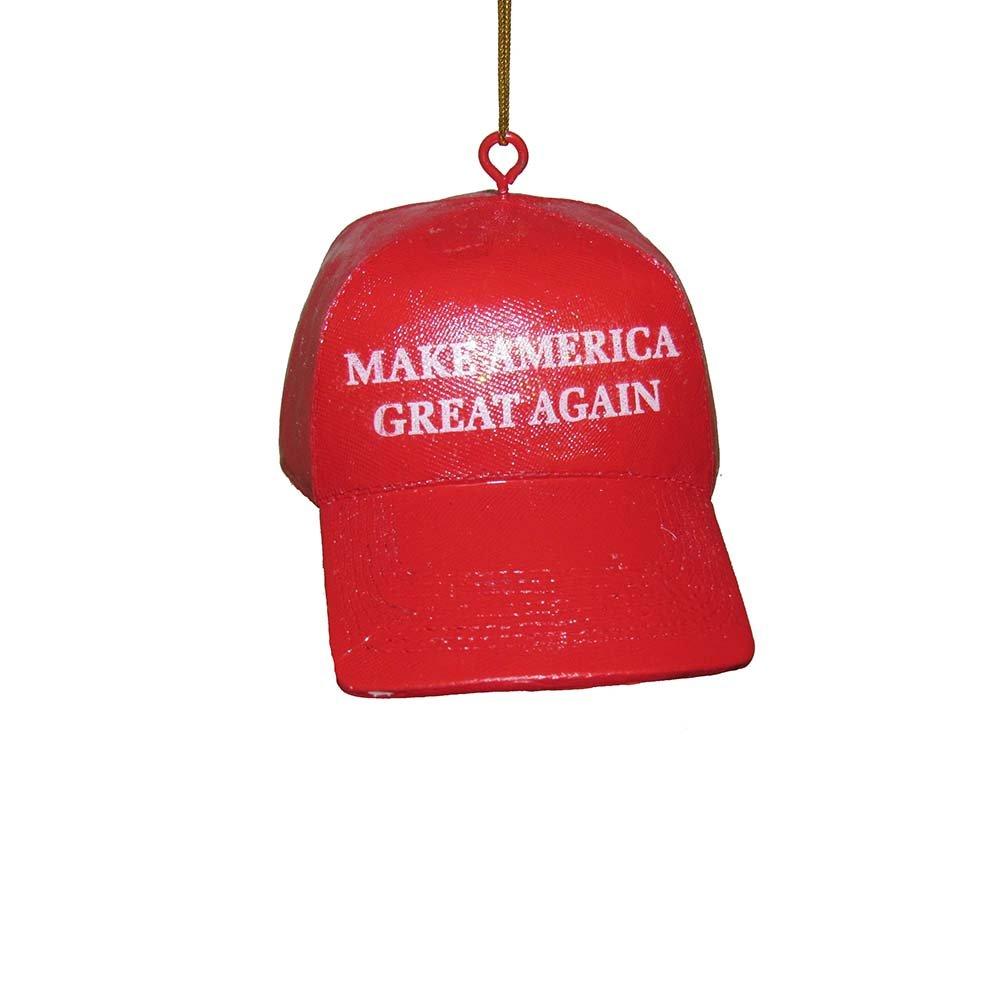 Kurt Adler YAMC7571 3.625'' Make America Great Again Hat Ornament