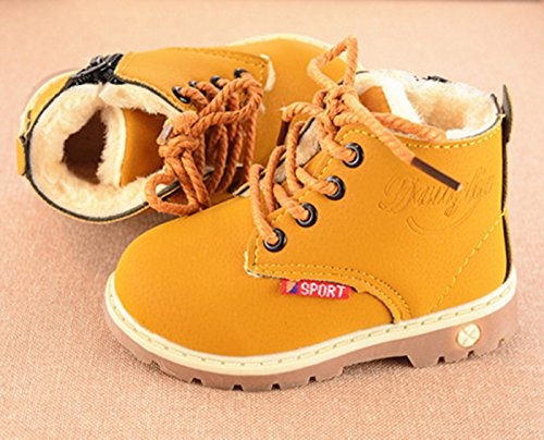 Happy-Cherry-Toddler-British-Style-Ankle-Boots-Fur-Lined-Warm-shoelace-Martin-Boots-Shoes