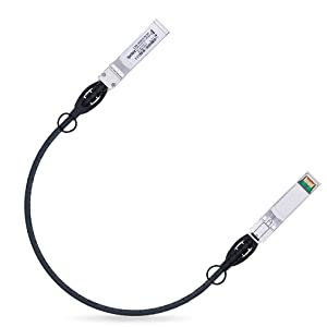 10G SFP+ Cable 0.5-Meter Passive Direct Attach Copper Twinax Cable (DAC) for Cisco SFP-H10GB-CU0.5M, Ubiquiti, D-Link, Supermicro, Netgear, Mikrotik, ZTE
