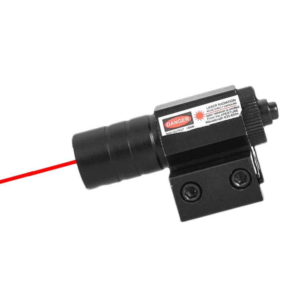 Ddartsgo 50-100M Gamme 635-655nm Red Dot Laser Sight R/églable 11mm 20mm Picatinny Rail Chasse Accessoire pour Fusil Air Pistolets