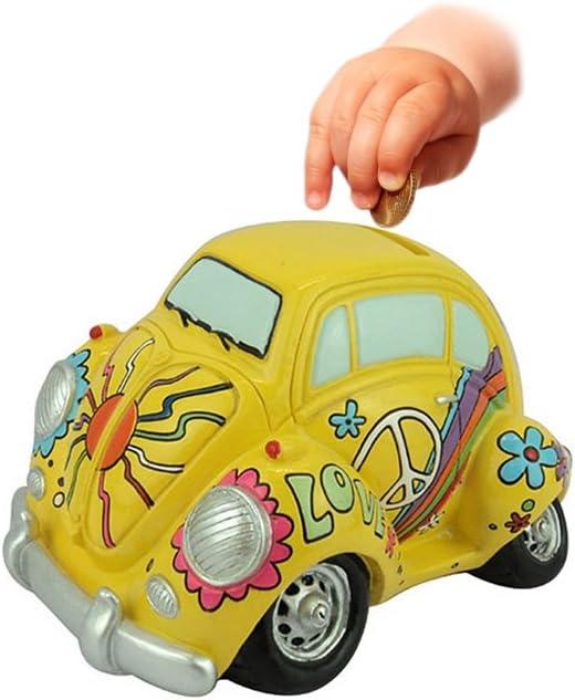 Yellow 67988-A Hi-Line Gift Ltd Warren Stratford Love Bug Figurine Money Bank
