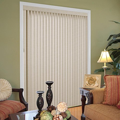 Hampton Bay 3.5 in. W x 65.5 in. L Marble Gray 3.5 Vertical Blind/Louver ()