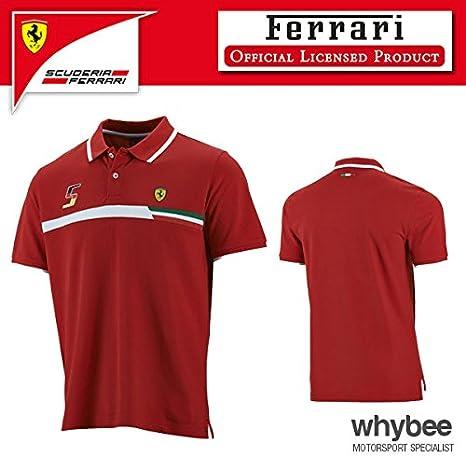 Ferrari fórmula 1 polo 2015 Mens camiseta para hombre (M ...